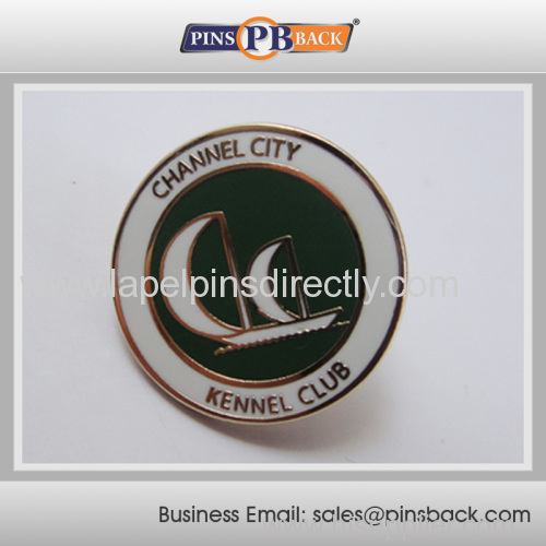 Hot sales 1 inch hard enamel lapel pin/custom enamel badge