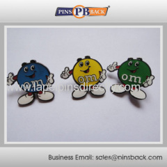 Custom cute cartoon lepel pin for kinds/ metal lovely pin badge