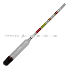 Triple scale wine & beer hydrometer ;
