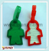 3D body shaped plastic lu ggage tags bag tags