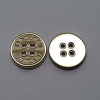 Alloy Sewing Button Plating with Enamel Finishing 4-Hole