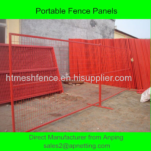 9ft portable fence panels popular in Canada colourfel temporary fence