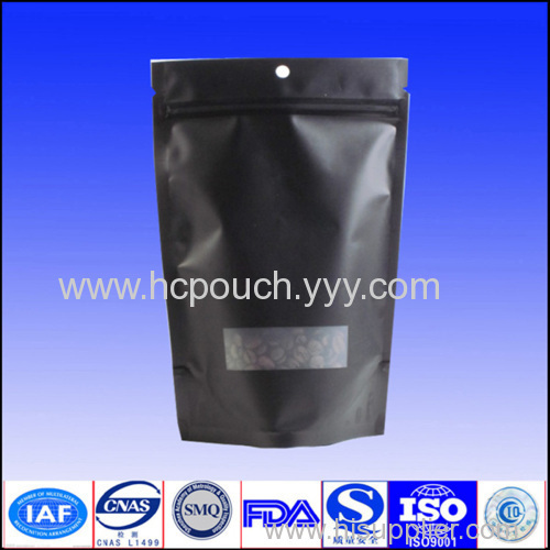 coffee bag stand up bag with window