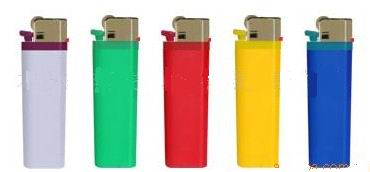 disposable lighter with gas in