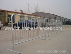hot-dipped galvanized crowd control barrier with removable feet