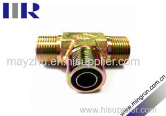 ORFS Male O-RING Hydraulic tee fitting