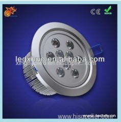 9x3w High power round led downlight