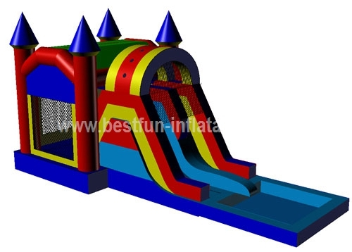 Castle Shape Inflatable Combo with Slide Exciting