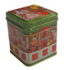 Small square candy tin box
