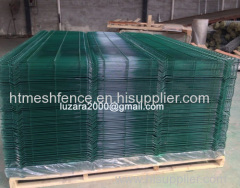 RAL6005 Welded Fence Panels Green powder coated fence