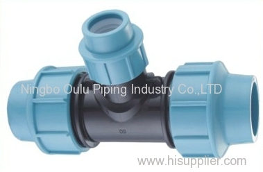 Tee/PP Compression Fittings Reducing Tee