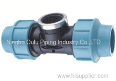 Tee/PP Compression Fittings Female Threaded Tee