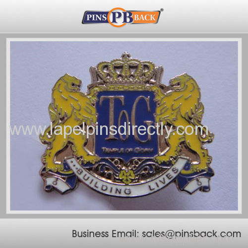 Custom die cast metal badge emblem lapel pin/soft enamel lapel pin/3D die cast engraved lapel pins