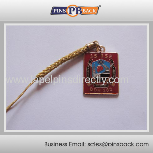 2014 hot item Lapel Pin Strap lapel pin for gifts/Mobile Phone strap pendant custom made