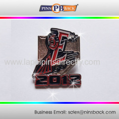 1.25 inch die casting lapel pin/3D pin badge/customized logo lapel pins