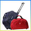 Hot selling polyester foldable travel trolley luggage bag