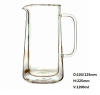 C&C great volume double wall glass mugs for water storage and drinking