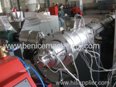 Plastic pipe production line for PE granulates