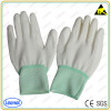 ESD PU nylon palm glove /esd glove for working