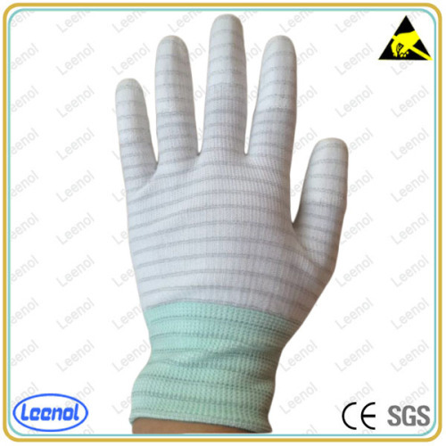 ESD less carbon top fit glove Antistatic top fit glove esd glove for working