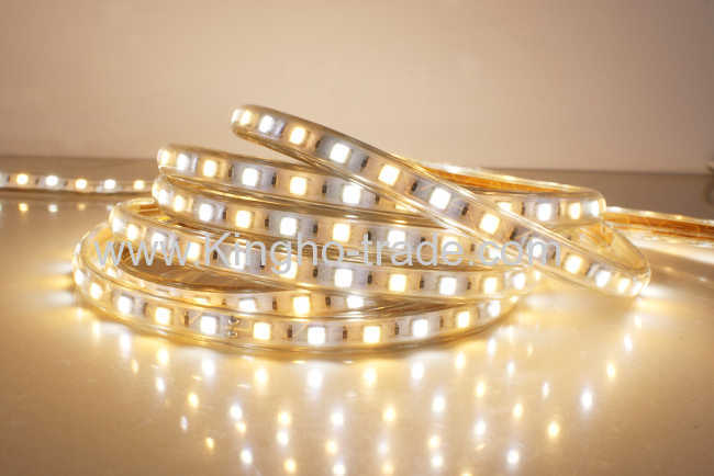 220c Dc High Voltage Flexible Smd5050 Led Strip With