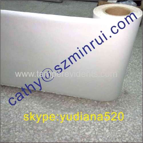 Rolls of Tamper Evident sticker Papers,Ultra Destructible Vinyl Sticker Materials made in China