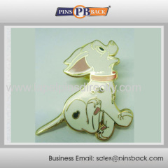 Metal dog hard enamel lapel pin badge
