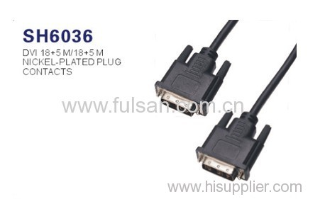 High Speed DVI cable 18+1,18+5,24+1,24+5