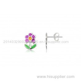 925 Sterling Silver Earring with Enamel