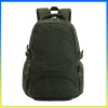 Trendy hot selling vintage canvas durable hiking backpack