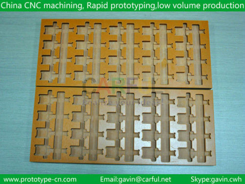 CNC processing of plastic parts