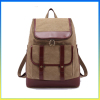 Hot selling vintage style leather canvas bag sports travel duffel backpack