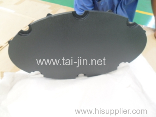 20mm Thickness Mixed Metal Oxide Quality Titanium Elliptical Shape Anode