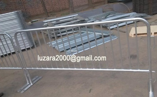 China factory Flat Barrier Feet temporary crowd control barrier temporary pedestrian fencing barrier