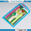 Free Design Heat Sealed Clear Plastic Clamshell Packaging For Stationery