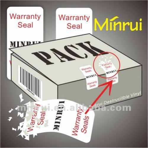 Manufacture Security Seal Sticker Packaging Label in China