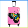Fashion batterfly printed girls suitcase hot pink luggage sets