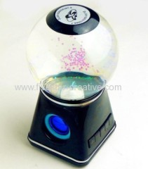 Newest Design LED Crystal Water Ball Portable Wireless Bluetooth USB Speaker with SD card