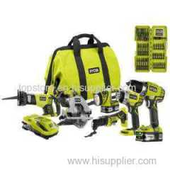 Ryobi ONE+ 18-Volt Lithium-Ion Combo Kit (6-Tool) with Free Impact Bit Set (34-Piece)