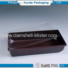 Rectangle plastic sushi container wtih cover