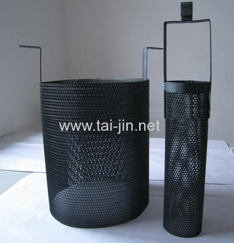 Round titanium mesh basket Anode coated with MMO coating