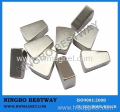 Segment Magnets with strong magnetic permanent arc magnets