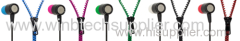 good sound super sound zipper earphone for samsung for htc for nokia mobile phone mp3 mp4