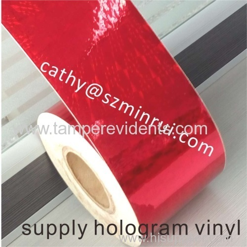 Security Red Hologram Stickers Material in rolls
