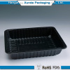 Rectangular plastic clamshell fruit tray