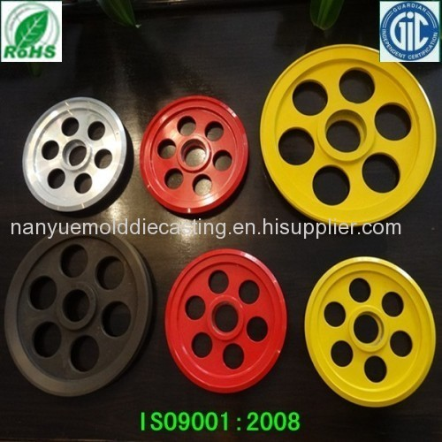 Aluminum alloy die casting machinery belt pulley