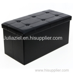 Faux leather Bench storage footstool ottoman pouf LSF105