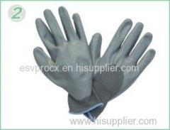 Foam Finished Durable Nitrile Work Gloves With Grey Nylon Liner For Refuse Collection