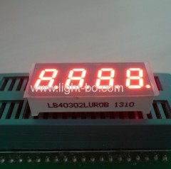 "Four-digit 0.3"" common cathode ultra bright red 7-segment LED Display for instrument panel,digital indicators"
