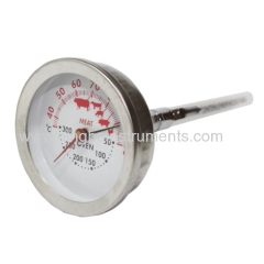Cooking & oven thermometer with pocket